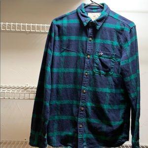 Hollister men's small flannel long sleeve shirt